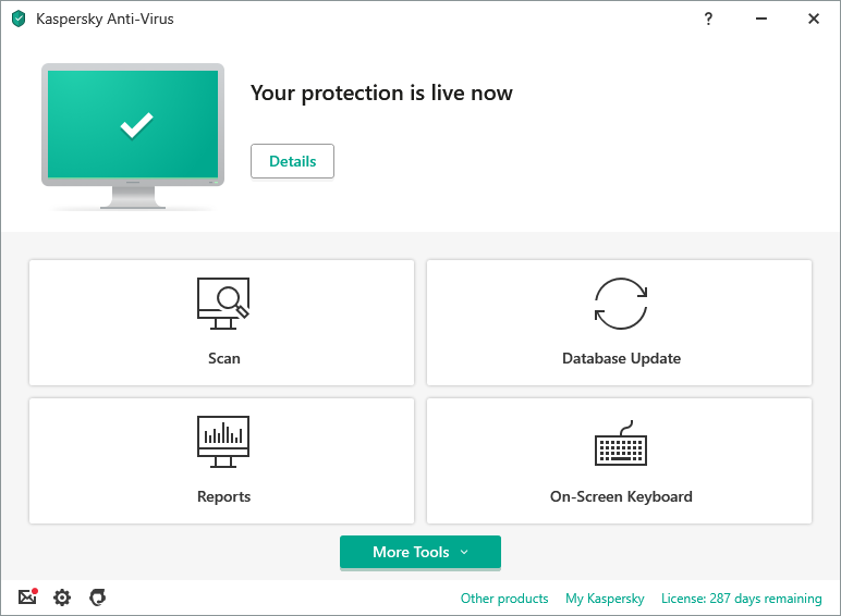 Kaspersky Anti-Virus Interface