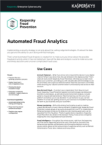 Automated Fraud Analytics