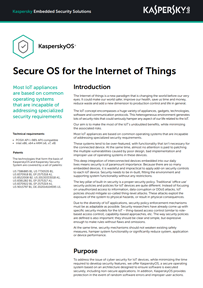 Secure OS for the Internet of Things