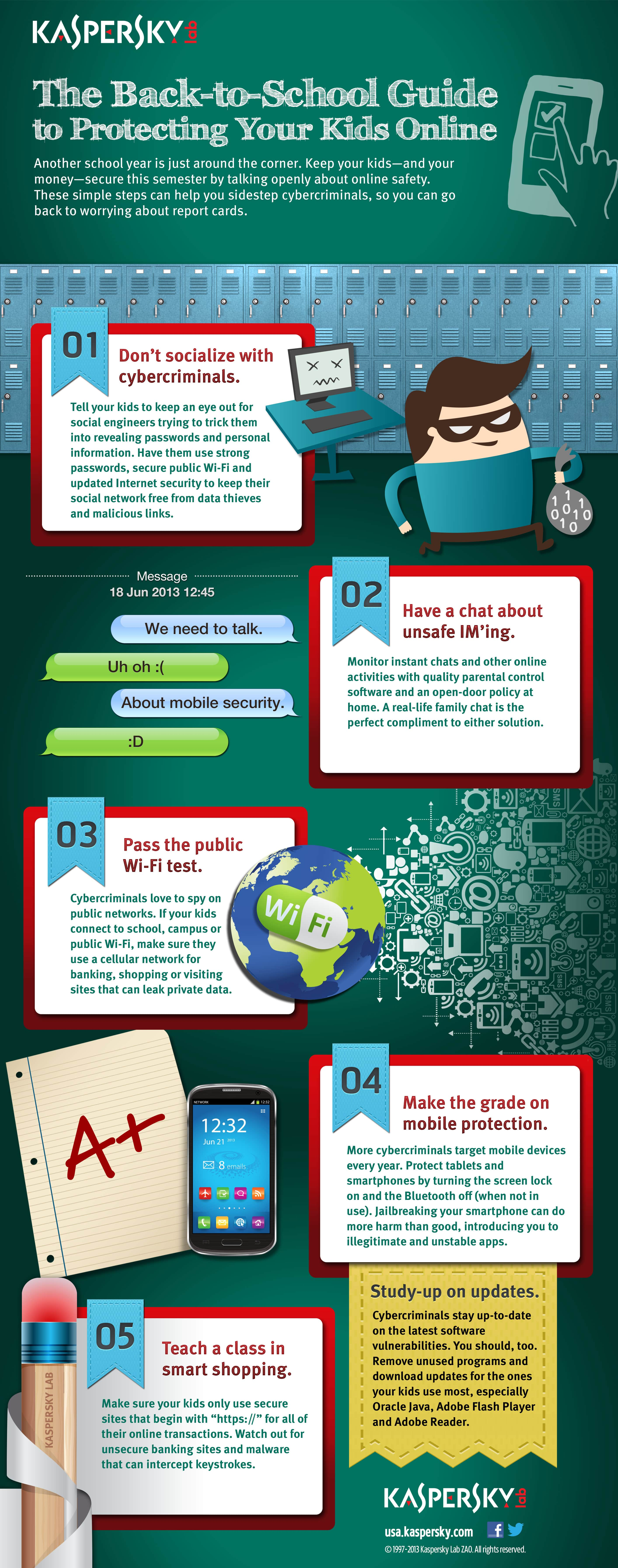 Infographic: Back to school guide to keeping your protecting your kids online