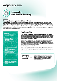 KASPERSKY WEB TRAFFIC SECURITY - DATA SHEET