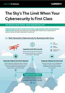THE SKY'S THE LIMIT WHEN YOUR CYBERSECURITY IS FIRST CLASS